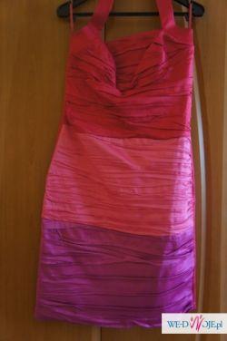 Sukienka wieczorowa malinowa