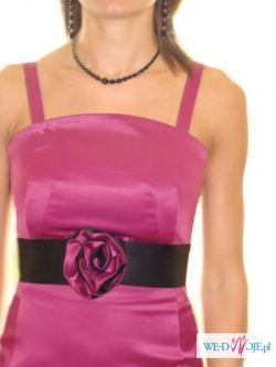 Sukienka wieczorowa z rózowej satyny