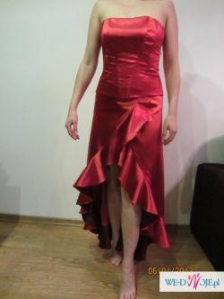 sukienka z gorsetem , czerwona z bolerkiem, styl tango
