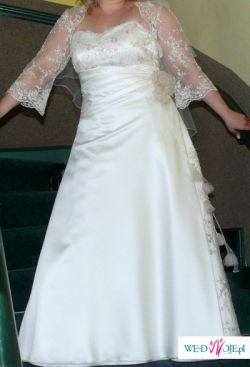 Sukienka z jedwabnej satyny