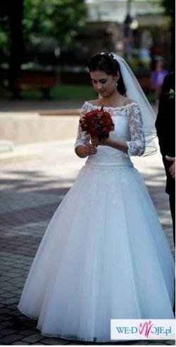 suknia Agnes model 11229 - kolor ecru - roz .36