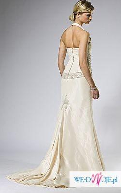 Suknia Aspera - ecru - model z okładki - 38 - śl.cywilny - JEDNYNA NA RYNKU!