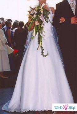 suknia biała dwuczęściowa