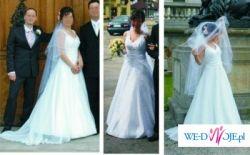 Suknia biała welon bolerko