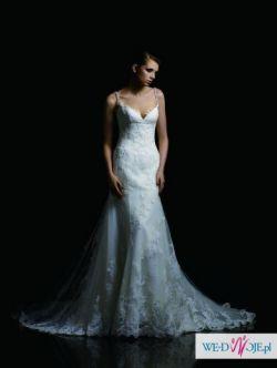 Suknia Blue Beijing 36/38 Swarovski koronka