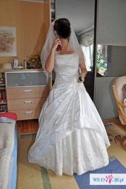 Suknia Claudia (Marietta) - ecru, rozm. 38