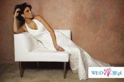 Suknia Cosmobella_model 7229, kolor ecru/ivory, rozmiar 34/36