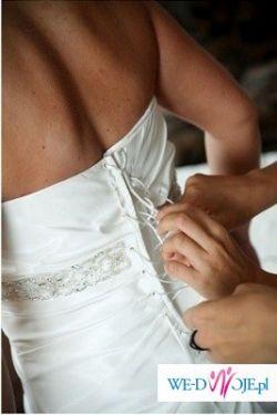 Suknia Creme - Coctail rozmiar 40