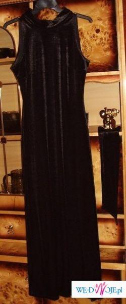 Suknia  czarna wieczorowa, wesele, sylwester, studniówka 38
