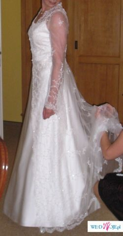 suknia dla wysokiej dziewczyny  182 wzrostu / rozmiar 40-42