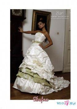 Suknia Ecru Dafne z zielenia 2008rok