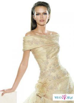 Suknia firmy LA SPOSA model SIRACUSA; rozm 36; kolor śmietankowy