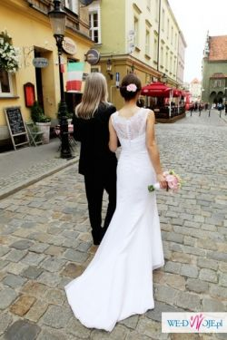 Suknia GALA 2012 model Zirell, BIEL, r. 36 (z rezerwą na poszerzenie)