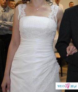 Suknia Gala/Danalea, biała, rozm.40, 174cm wzr.