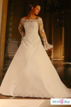 """suknia """"glossy"""" francuska biała 2007"""