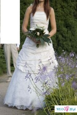 Suknia + halka + welon r.38