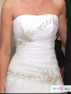 Suknia india 38 śmietankowa ,hiszpanka