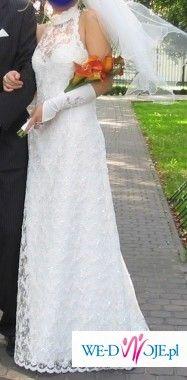 suknia jednoczęściowa cała z koronki, rozm. 36