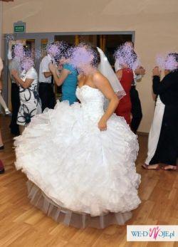 Suknia księżniczka biała S