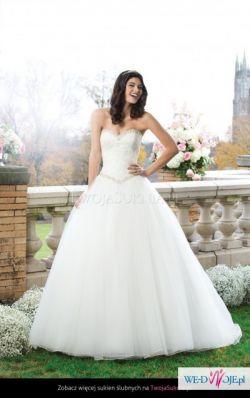 Suknia księżniczka r. 36 + bolerko z kolekcji Sincerity Bridal 2015