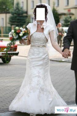 Suknia Liametti 2008 + dodatki + kamizelka ślubna ,plastron
