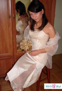 suknia na poprawiny ,slub cywilny rozmiar 42