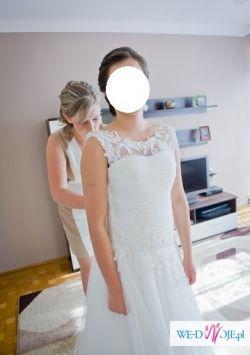 Suknia papilio1038+welon+szal+halka z kołem+buty