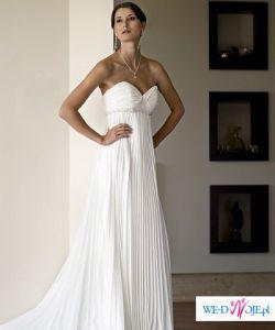 Suknia plisowana z kolekcji 2009 Herms ENOLA, rozm. 36