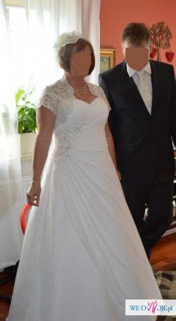 Suknia rozmiar 44 / 165cm wzrost/ kolor  biel perłowa