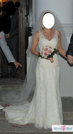 Suknia San Patric, model Bagdad, ecru, roz.34/36, 1000 zł