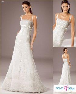 suknia śluba white one 175 - hiszpańska koronka