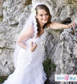 Suknia ślubna 34-40, hiszpanka+ GRATISY