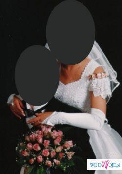 Suknia ślubna 34 lub małe 36 tanio!  używana bez dodatków