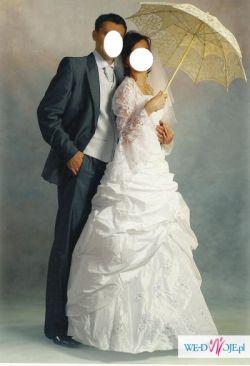 Suknia ślubna 36/38/40 + musznik kamizelka gratis