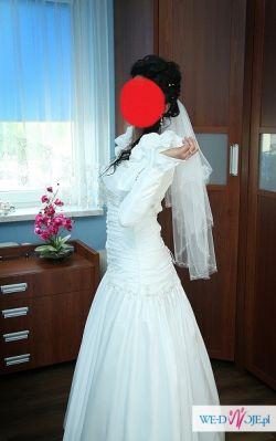 Suknia ślubna 36/38, buty ślubne skórzane rozm 39,5 + dodatki