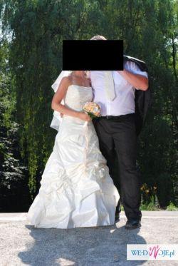 Suknia ślubna 36/38 , kolor kremowy