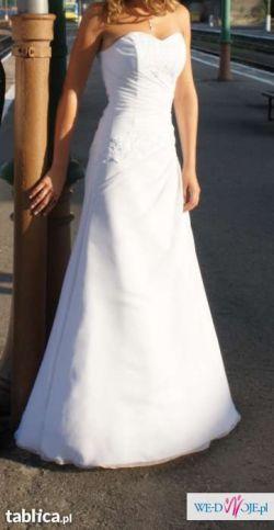 Suknia ślubna 36 tanio + gratis szal