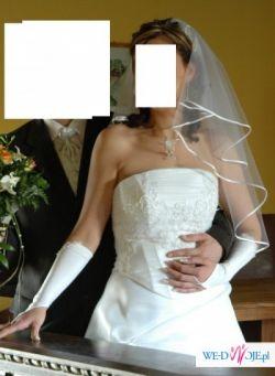 Suknia ślubna 38-40 + bolerko ocieplane