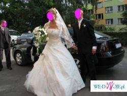suknia ślubna 38-40 ecru dwuczęściowa z bolerkiem