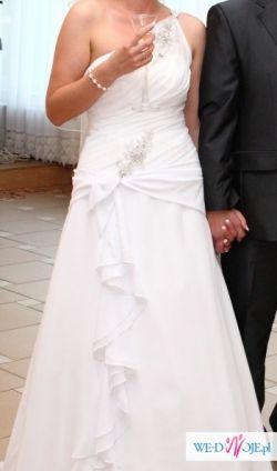 Suknia ślubna 38 40 Svarowski i muślin