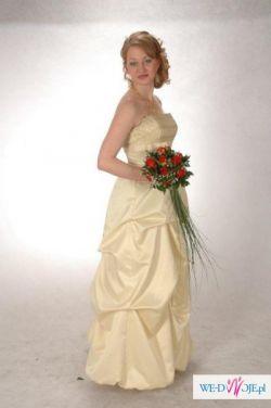 SUKNIA ŚLUBNA 38 cywilny WIECZOROWA balowa wesele