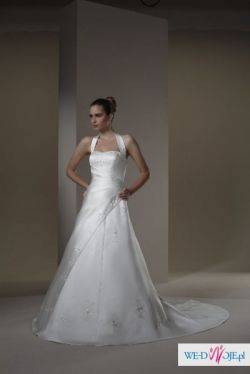 Suknia Ślubna 40-44 -kolekcja amerykańska Sincerity (+ halka, bolerko, welon)