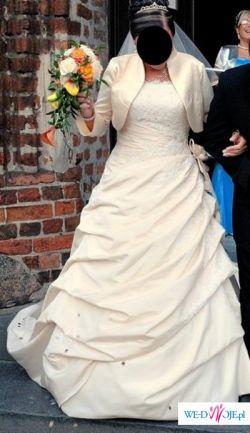 suknia ślubna 42/44 z trenem Ellis Bridals UK 2009