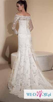 Suknia Ślubna 424 White ONE roz. 36 z boler. NOWA