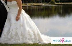 suknia ślubna 44/42 (regulacja) użyta 1 raz,cena rynkowa 4500