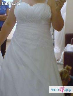 Suknia Ślubna 44-48+ dodatki gratis!