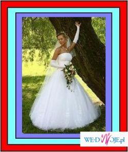 Suknia ślubna 5 warstw tiulu na osobę wysoką. BIANCA