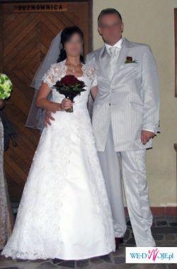 Suknia  ślubna – śnieżno biała, model ROCCA z kolekcji: Colezione Reale