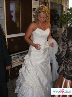 Suknia ślubna ADELAIDA tafta inteligentna ercu 38