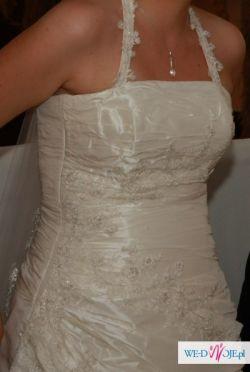 Suknia Slubna Agnes 1629, 38-40 (42_, 176cm+welon+bolerko